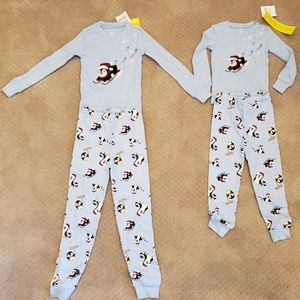 Winter Penguin PJs NWT, size 4 & 7 Gymbo